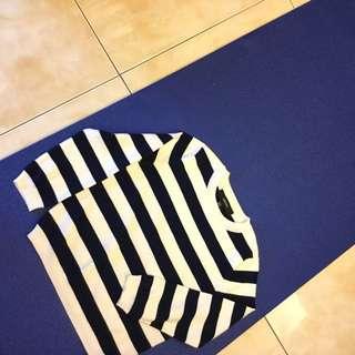 Forever21 寶藍針織短版上衣 全新