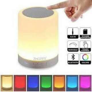 Bluetooth speaker with lights