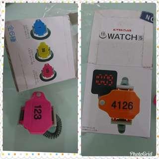 膠錶(桃紅色)