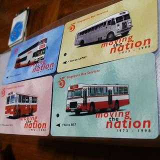 vintage mrt card. singapore bus service 1973-1988