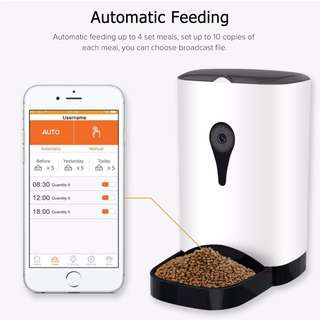 Automatic Smart Pet Feeder with Wireless Camera for Small and Medium Dogs
