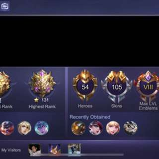Mobile Legend iOS Account Maxed