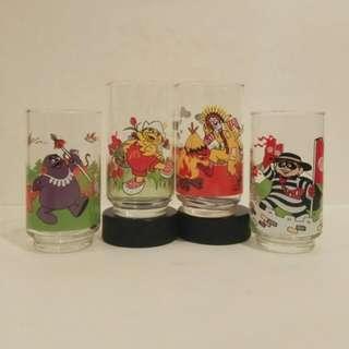 罕有1993年麥當奴旅遊杯 ,1套4隻  (歲月收藏品)