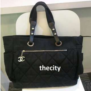AUTHENTIC CHANEL BIARRITZ LARGE TOTE BAG - GOOD CONDITION
