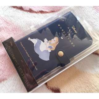 日本版 - Disney Alice in wonderland SHO-BI moblie case 迪士尼愛麗絲 白兔先生 電話套 有蓋 摺手機套