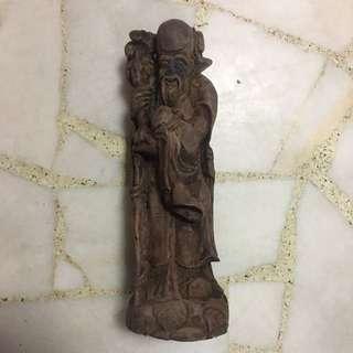 11 inch Shou Xing Gong Carving 寿星公