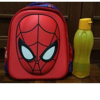 3D Spider-man Kids School Bag