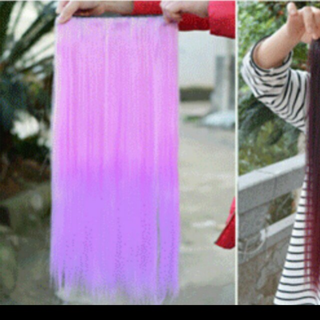 20 Mailedmeet Up Instock Fairy Purple Dip Dye Ombre Clip On