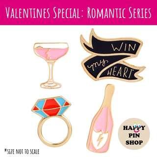 V-Day Romantic Series Enamel Pins