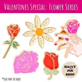 V-Day Flower Series 💐 Enamel Pins