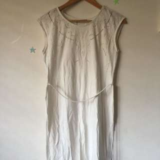 White cotton beach dress