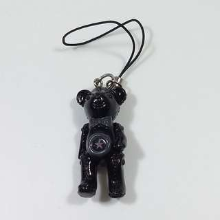 B.Bear (HK) B. 熊手機繩黑色Mobile Strap Black