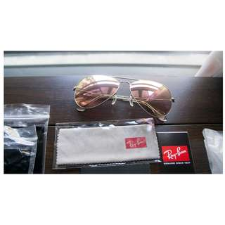 RAY BAN AVIATOR FLASH LENSES LENSES: Copper Flash  Model code: RB3025 019/Z2 58/62 MM SIZE RAYBAN brand new