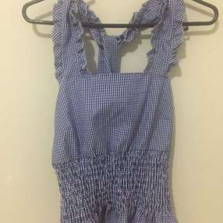 SALE! Checkered Ruffles Top for only 150Pesos :)