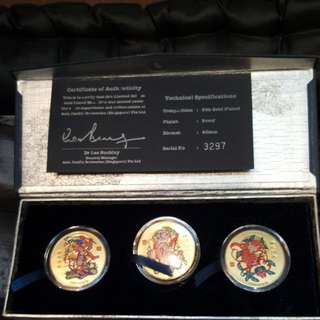 24k gold plated proof coin. Tiger beer 2004.