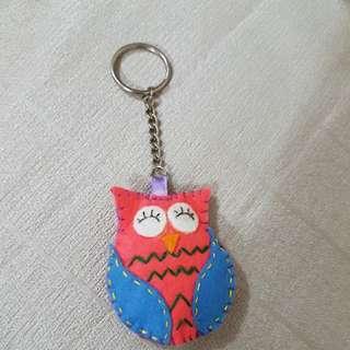Owl Keychain handmade