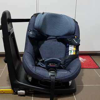 Maxi-Cosi Axissfix Plus 2016, 360-swivel carseat (River Blue)