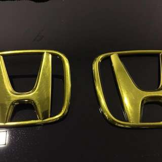 Honda Emblem (Gold) Front And Back