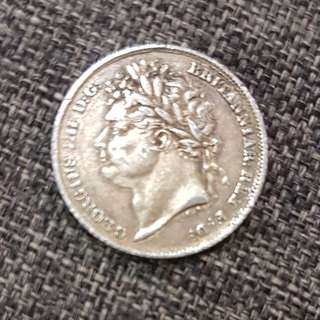 1825 George IV Silver Shilling