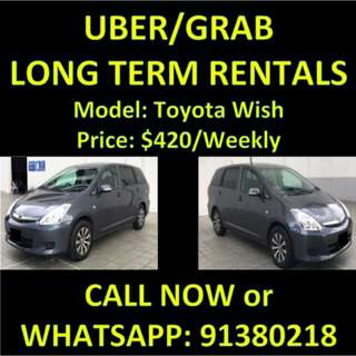 LONG TERM UBER/GRAB Toyota Wish