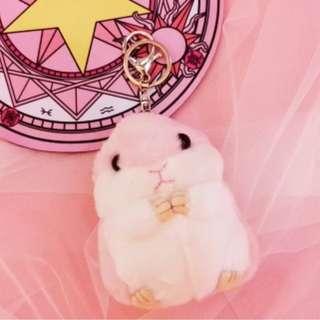 Pink Hamster Keychain