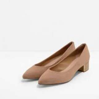 Charles & Keith Beige Basic Pointed Pumps