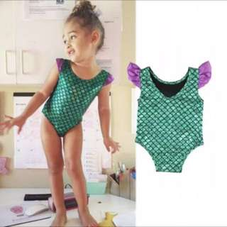 New little mermaid summer beach wear swimwear swimming costume