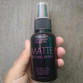 Matte Setting Spray City Color