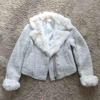 Korea Tweed & Fur Jacket 韓國毛毛外套