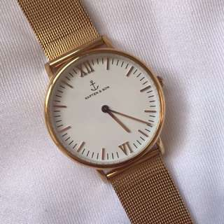 Kapten & Son Campus Watch in Rose Gold with white face RRP $279