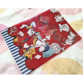 日本版 - Disneystore Alice in wonderland 迪士尼愛麗絲夢遊仙境 妙妙貓 A4 size 文件夾 - A