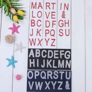 BN alphabet dies