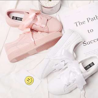 <P.O> Korean Ulzzang Ribbon Bow Shoes