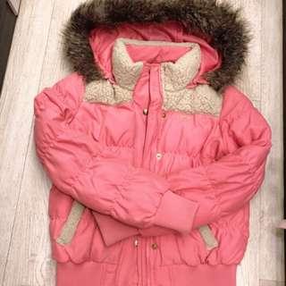 「妳買!運費我付」Bigtrain粉嫩舖棉保暖連帽防風外套