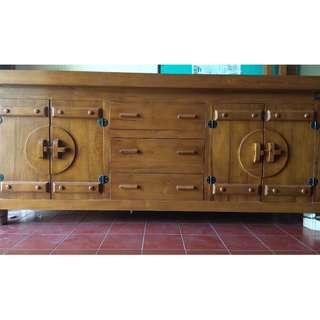 [Cuci Gudang] Buffet 2 Meter Type B- Kayu Jati
