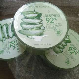 Nature Republic Aloe Vera Soothing Gel 92% ORIGINAL KOREA 100%