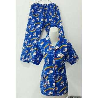 GROSIR Pajamas Katun Jepang CP Doraemon