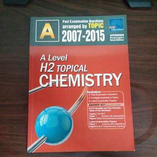 Chemistry TYS A level 2007-2015