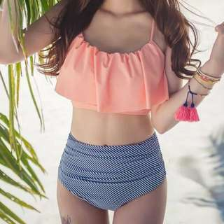 Bikini - Falbala High Waist Set