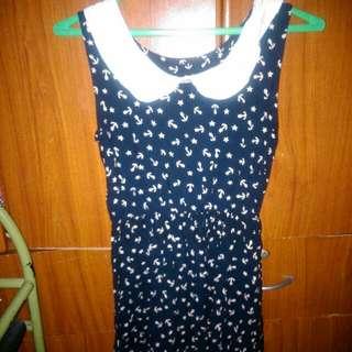 Blue Anchor Dress