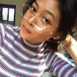 Kacamata glasses eyewear korea rose gold karamata