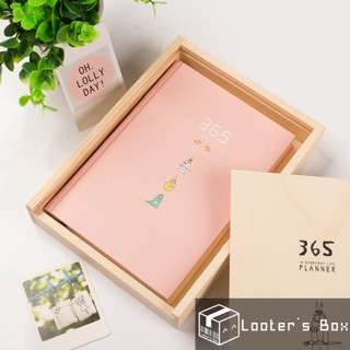365 Days Project Planner Wooden Box Gift Set