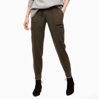 Aritzia - Community Dark Olive Cebu Pants