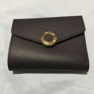 Black trifold wallet leather