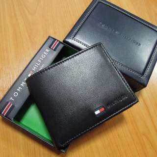 AUTHENTIC Tommy Hilfiger wallet Men's wallet Leather Coin wallet coin pouch black
