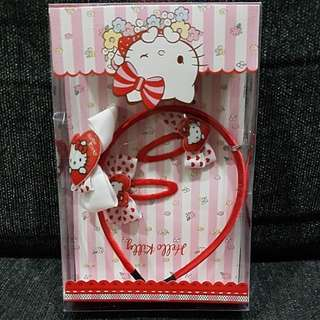 Promo Deal! Red Hello Kitty Hair Band and Clips