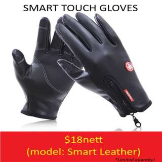 Smart Touch Gloves - Leather