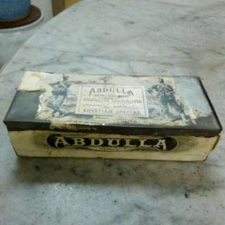 Abdulla Cigarettes Rectangular Tin Vintage