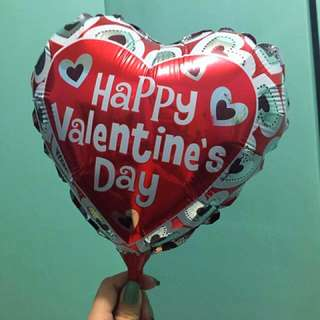 "10"" Valentine's Day Heart Foil Balloon"