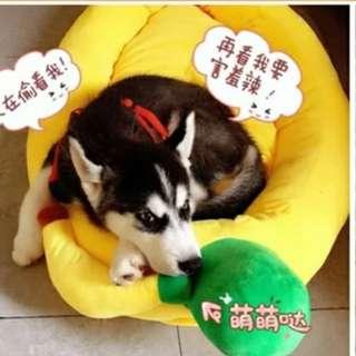 🚚 [寵愛毛小孩]萌萌舒適寵物香蕉床